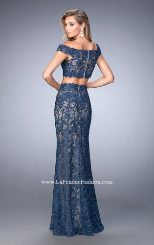 Picture of: Two Piece Off the Shoulder Embellished Prom Dress, Style: 22645, Back Picture