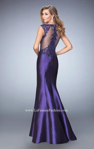 Picture of: Mermaid Prom Gown with Crystals and Beads, Style: 22723, Back Picture
