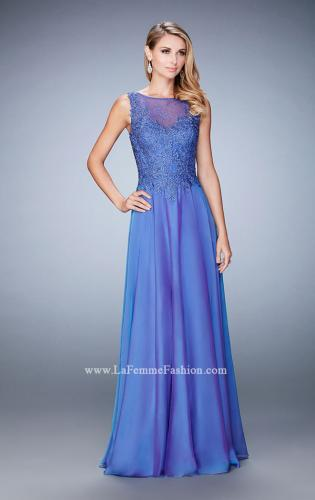 Picture of: Lace Illusion Prom Dress with Embroidered Bodice, Style: 22783, Main Picture