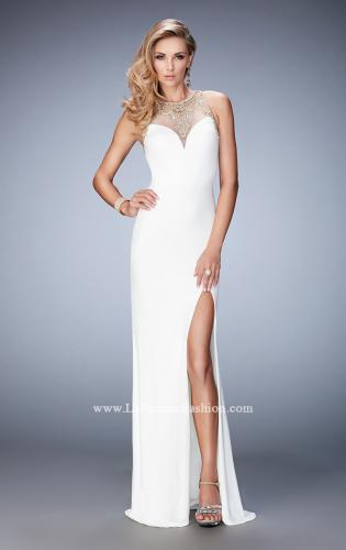 Picture of: Fully Embellished Prom Dress with Train and Leg Slit, Style: 22825, Main Picture