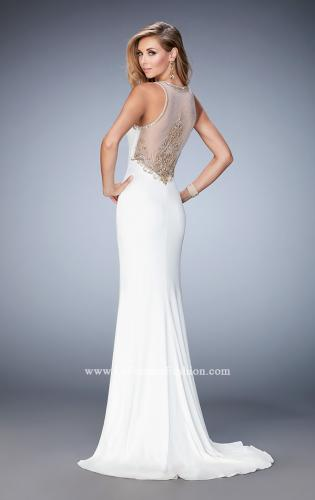 Picture of: Fully Embellished Prom Dress with Train and Leg Slit, Style: 22825, Back Picture