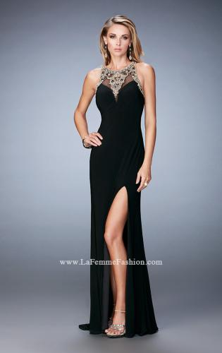 Picture of: Fully Embellished Prom Dress with Train and Leg Slit, Style: 22825, Detail Picture 1