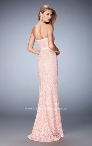 Picture of: Lace Prom Dress with Scattered Rhinestones, Style: 22878, Back Picture