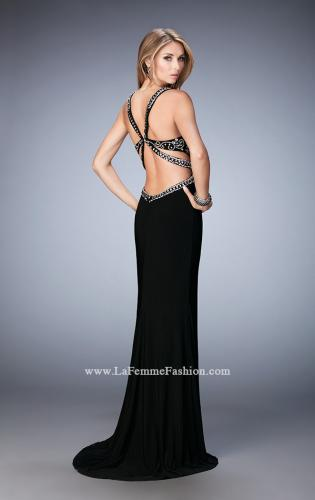 Picture of: Embellished Dress with Open Back and Train, Style: 22888, Back Picture