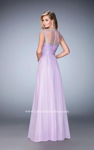 Picture of: Long Prom Gown with Crystals and Beads, Style: 22890, Back Picture