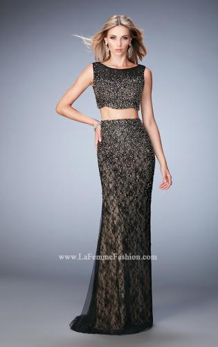 Picture of: Two Piece Tulle Gown with Scalloped Hem and Beading, Style: 22927, Main Picture