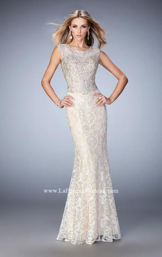 Picture of: Embellished Lace Prom Dress with Crystal Beading, Style: 22934, Main Picture