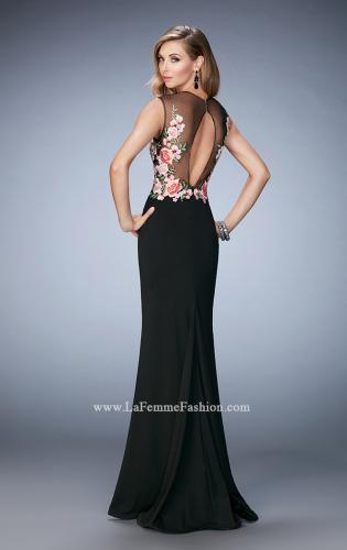 Picture of: Long Lace Prom Gown with Keyhole Back, Style: 22935, Back Picture