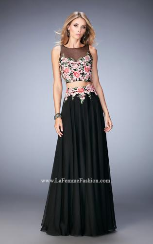 Picture of: Two Piece Prom Gown with Sheer Neckline and Back, Style: 22936, Main Picture
