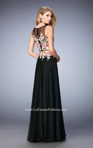 Picture of: Two Piece Prom Gown with Sheer Neckline and Back, Style: 22936, Back Picture