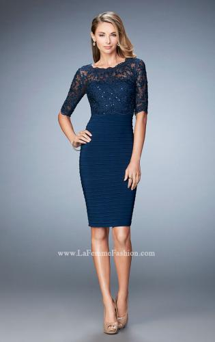 Picture of: Knee Length Dress with Bandage Skirt and Lace, Style: 22973, Main Picture