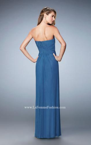 Picture of: Evening Gown with Pleated Bodice and Shawl, Style: 23023, Back Picture
