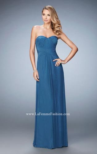 Picture of: Evening Gown with Pleated Bodice and Shawl, Style: 23023, Detail Picture 1