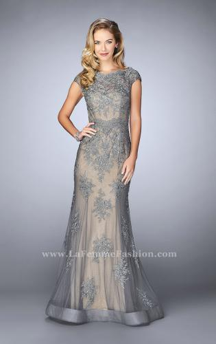 Picture of: Lace Mermaid Prom Dress with Scalloped Neckline, Style: 23059, Main Picture