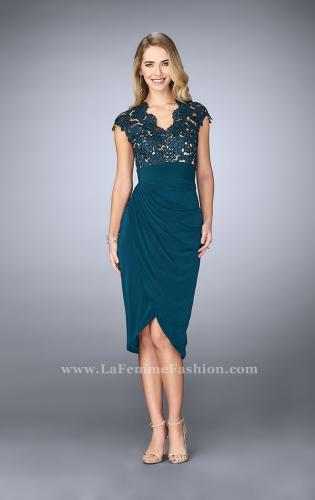 Picture of: Jersey Cocktail Dress with Tulip Hem and Beading, Style: 23124, Main Picture