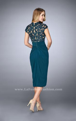 Picture of: Jersey Cocktail Dress with Tulip Hem and Beading, Style: 23124, Back Picture