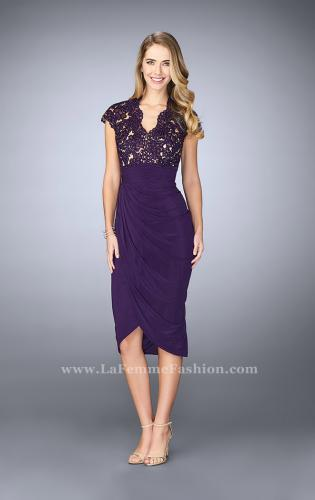 Picture of: Jersey Cocktail Dress with Tulip Hem and Beading, Style: 23124, Detail Picture 1