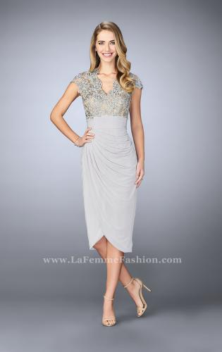 Picture of: Jersey Cocktail Dress with Tulip Hem and Beading, Style: 23124, Detail Picture 2