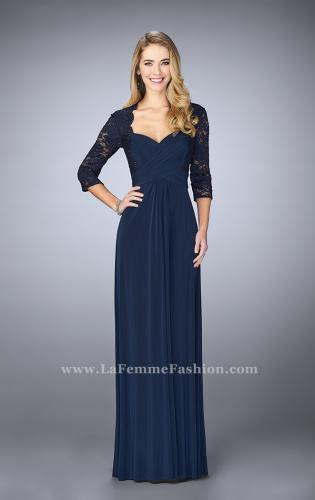 Picture of: Classic Jersey Evening Gown with 3/4 Sleeves, Style: 23139, Main Picture