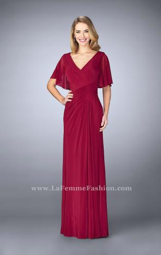 Picture of: V Neck Chiffon Prom Dress with Vintage Beading, Style: 23160, Main Picture