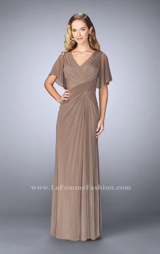 Picture of: V Neck Chiffon Prom Dress with Vintage Beading, Style: 23160, Detail Picture 1