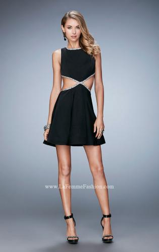 Picture of: Rhinestone Cocktail Dress with Side Cut Outs, Style: 23257, Detail Picture 1