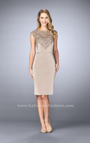Picture of: Knee Length Gown with Beaded Embroidery, Style: 23266, Main Picture