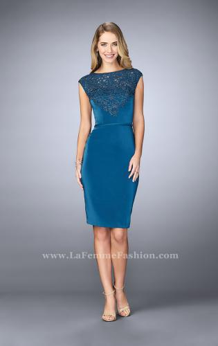 Picture of: Knee Length Gown with Beaded Embroidery, Style: 23266, Detail Picture 1