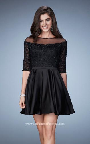 Picture of: Off the Shoulder Scallop Laced Homecoming Dress, Style: 23345, Main Picture