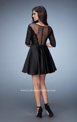 Picture of: Off the Shoulder Scallop Laced Homecoming Dress, Style: 23345, Back Picture