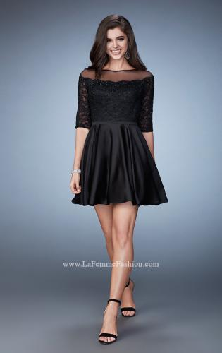 Picture of: Off the Shoulder Scallop Laced Homecoming Dress, Style: 23345, Detail Picture 1