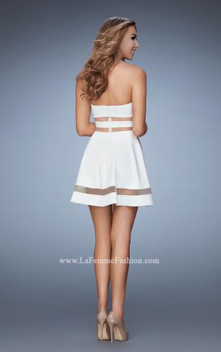 Picture of: A-line Homecoming Dress with Mesh Cut Outs, Style: 23349, Back Picture