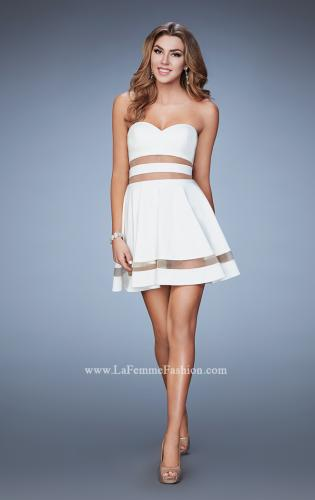 Picture of: A-line Homecoming Dress with Mesh Cut Outs, Style: 23349, Detail Picture 1