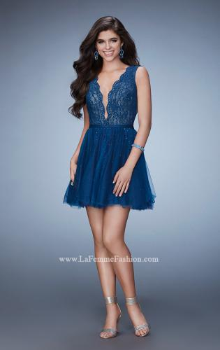 Picture of: Short Dress with Tulle Skirt and Rhinestones, Style: 23380, Detail Picture 1