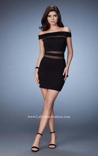 Picture of: Fitted Homecoming Dress with Sheer Cut Outs, Style: 23391, Detail Picture 1