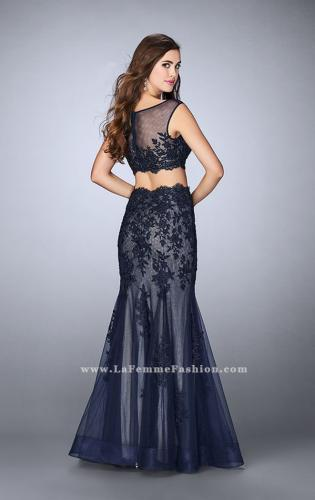 Picture of: Lace Two Piece Dress with Scallops and Mermaid Skirt, Style: 23461, Back Picture