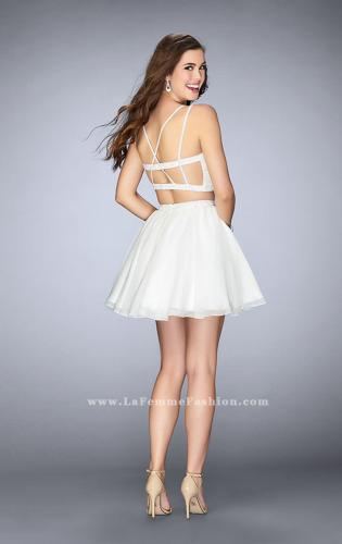 Picture of: Short Lace Two Piece Dress with a Strappy Back, Style: 23531, Back Picture