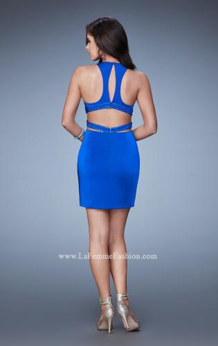 Picture of: Fitted Short Dress with Cut Outs and Crossing Straps, Style: 23542, Back Picture