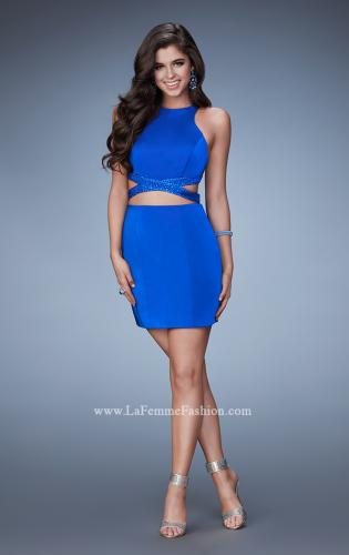 Picture of: Fitted Short Dress with Cut Outs and Crossing Straps, Style: 23542, Detail Picture 1