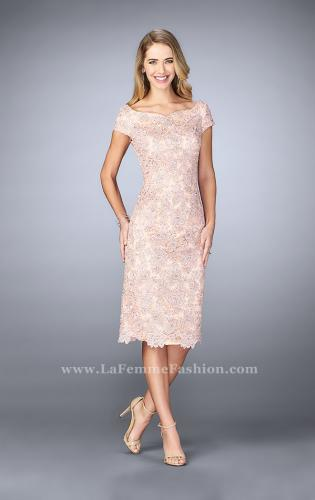 Picture of: Knee Length Gown with Scattered Beading, Style: 23552, Main Picture