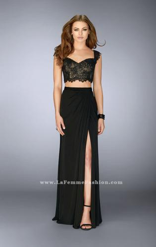 Picture of: Two Piece Dress with Lace Top and Gathered Skirt, Style: 23563, Main Picture