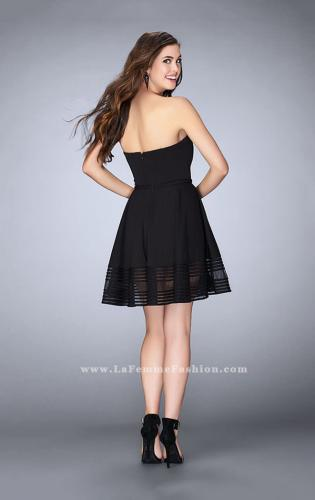 Picture of: Jersey Romper Dress with Sweetheart Neckline, Style: 23593, Back Picture
