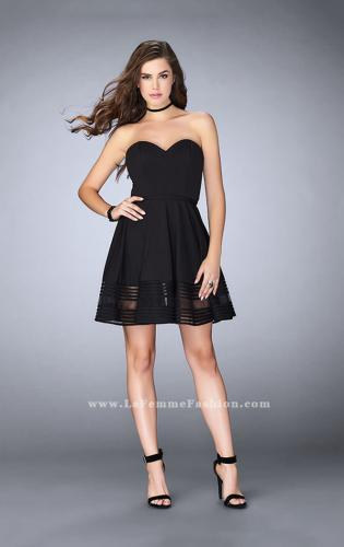 Picture of: Jersey Romper Dress with Sweetheart Neckline, Style: 23593, Detail Picture 1