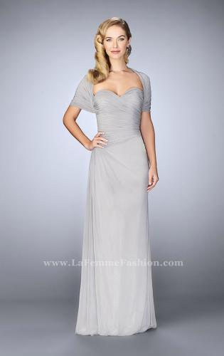 Picture of: Evening Dress with Attached Shoulder Wrap, Style: 23623, Detail Picture 1