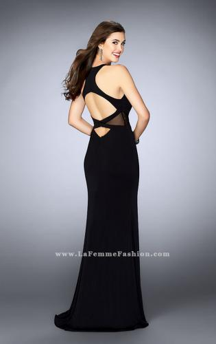 Picture of: High Neck Prom Dress with Sheer Cut Outs, Style: 23882, Back Picture