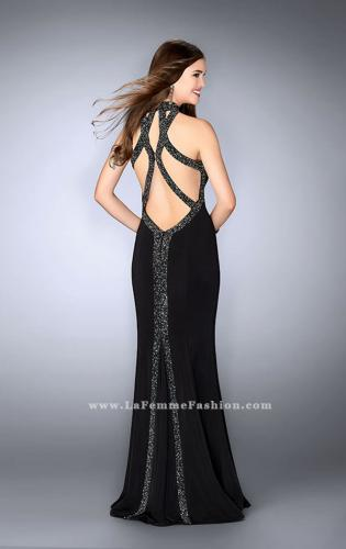 Picture of: Long Prom Dress with Beaded Collar Beaded Back, Style: 23891, Main Picture