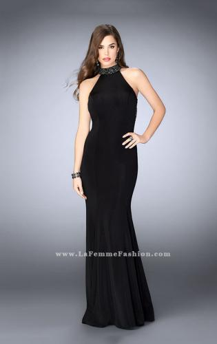 Picture of: Long Prom Dress with Beaded Collar Beaded Back, Style: 23891, Detail Picture 1