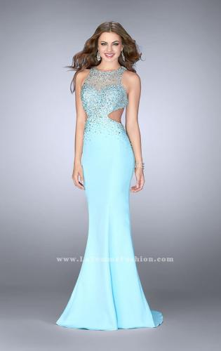 Picture of: Beaded Jersey Dress with Sheer Sweetheart Neckline, Style: 23896, Detail Picture 1
