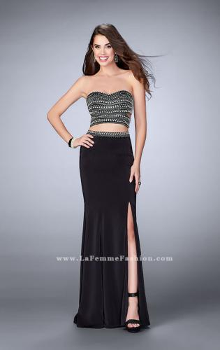 Picture of: Two Piece Prom dress with a Pearls and Stones, Style: 23899, Detail Picture 1