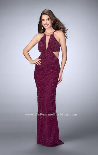 Picture of: Beaded Prom Dress with Side Cut Outs and Strappy Back, Style: 23941, Detail Picture 2